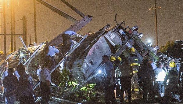 Крушение поезда в Филадельфии