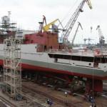 Новейший фрегат спущен на воду в Калининграде