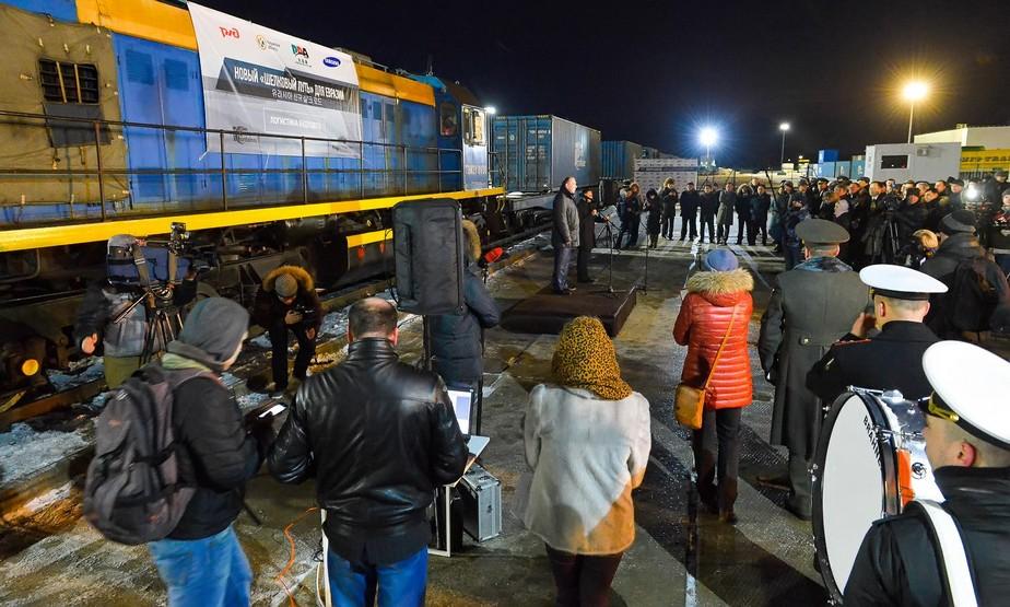 Железнодорожный путь связал Южный Китай и Калужскую область