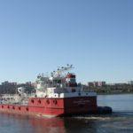 Красноярская судоверфь спустила на воду танкер-бункеровщик для Норникеля «Владимир Матвеев»