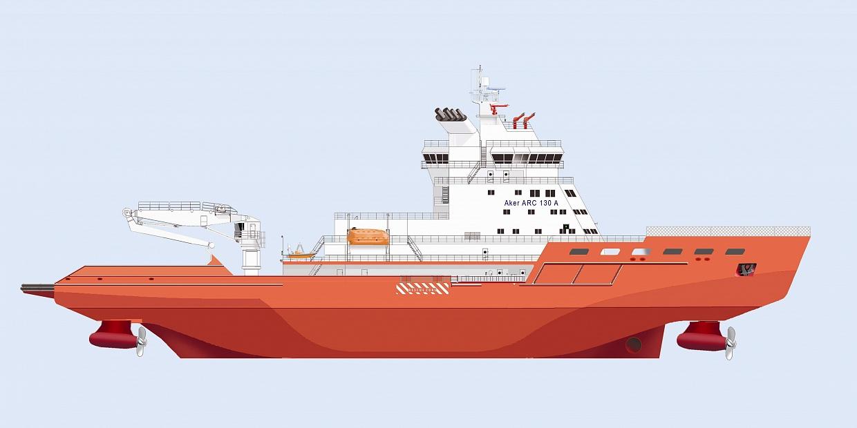 Ледокольное судно обеспечения проекта Aker ARC 130A