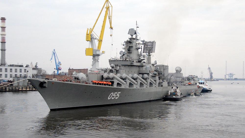 """Крейсер """"Маршал Устинов"""" вернулся в строй после пятилетнего ремонта"""