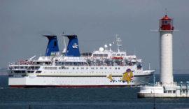 Лайнер, закупленный для круизов между Сочи и Крымом, имеет 9 палуб и 4 бассейна