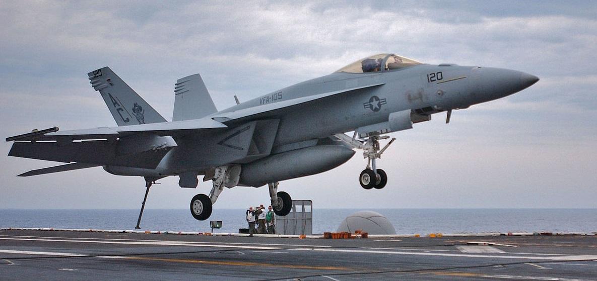 F/A-18E Super Hornet потерпел крушение