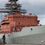 «Северная верфь» спустила на воду судно связи нового поколения «Иван Хурс»