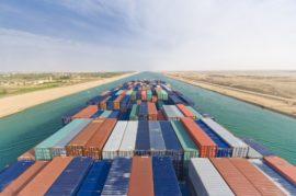 Трафик через Суэцкий канал продолжает расти