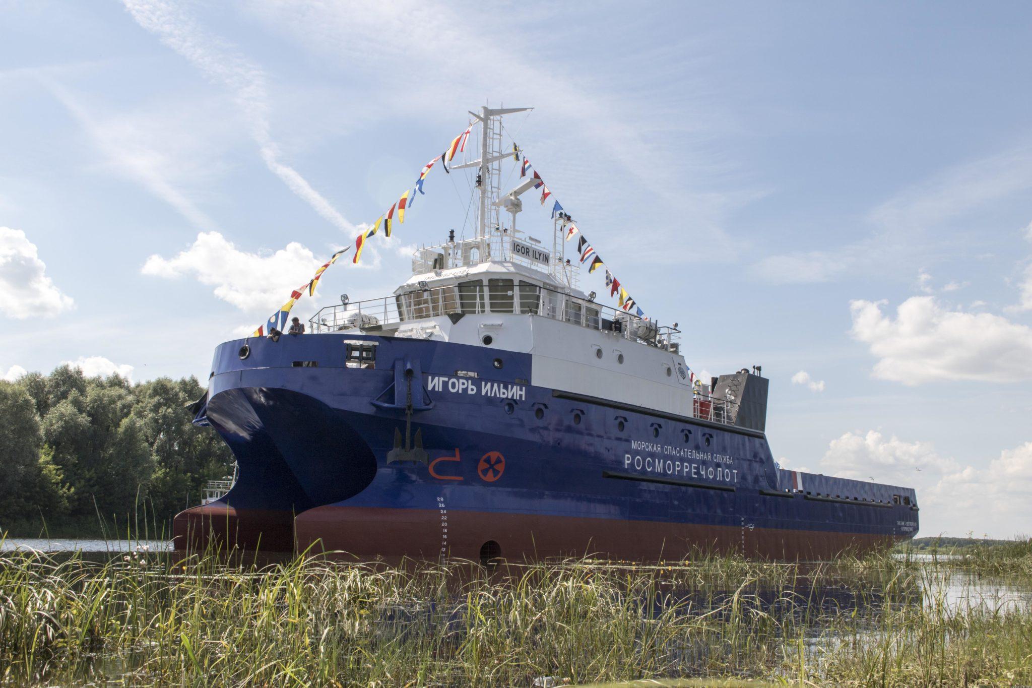 Окская судоверфь спустила на воду катамаран«Игорь Ильин»