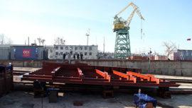 В Севастополе заложили плавучий кран ПК-400