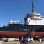Спущено на воду спасательно-буксирное судно «Капитан Гурьев» проекта 22870
