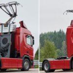 Гибридные грузовики Scania выйдут на электрифицированные дороги