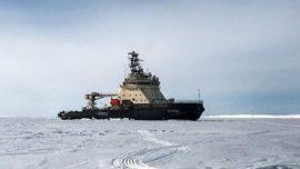 Новый ледокол ВМФ «Илья Муромец» прибыл на Белое море