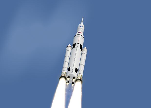 Ракета SLS глазами художника